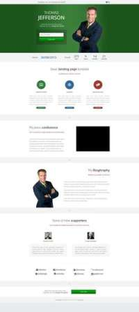 Elect - Political - Charity - Conference Landing Page