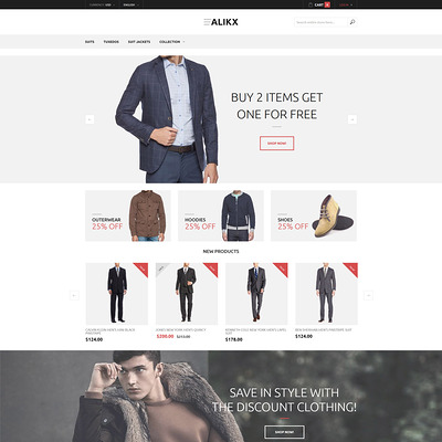 ALIKX Magento Theme (Magento theme for mens and womens clothing) Item Picture