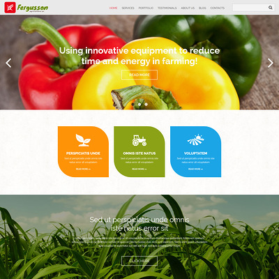 Agricultural Sector Joomla Template (Joomla theme for agriculture and farms) Item Picture