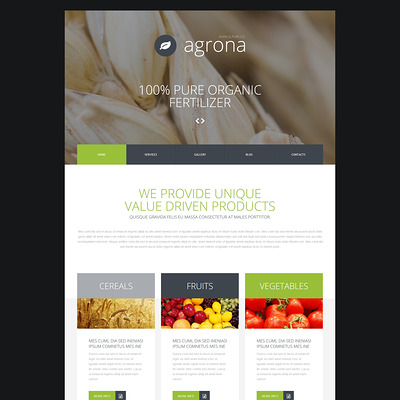 Agriculture Company Joomla Template (Joomla theme for agriculture and farms) Item Picture
