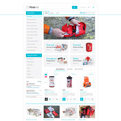 Ambulance Responsive OpenCart Template (OpenCart theme for health and medical stores) Item Picture