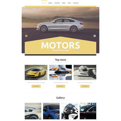 Car Club Responsive WordPress Theme (WordPress theme for car, vehicle, and automotive websites) Item Picture