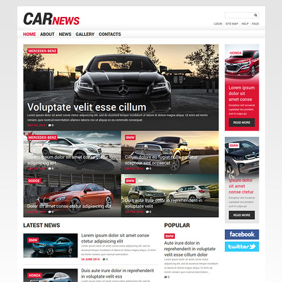 Car Responsive Joomla Template (Joomla template for car, vehicle, and automotive websites) Item Picture