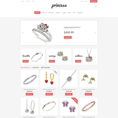 Children's Jewelry PrestaShop Theme (PrestaShop theme for jewelry stores) Item Picture