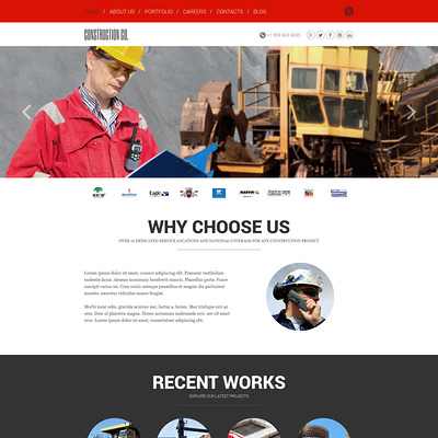 Construction Agency Joomla Template (Joomla template for construction companies) Item Picture