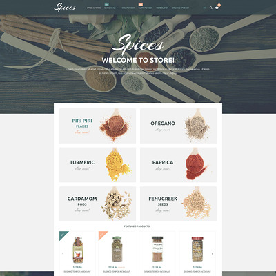 Culinary Spices Magento Theme (Magento theme for selling food and spices) Item Picture