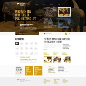 Discovering the Unknown WordPress Theme (museum WordPress theme) Item Picture