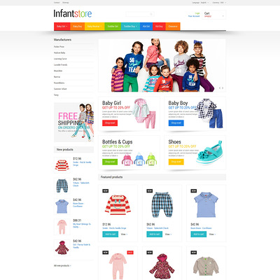 Everything for Infants PrestaShop Theme (PrestaShop theme for clothing for babies, kids, and children) Item Picture