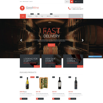 Excellent Wine Shopify Theme (Shopify theme for wine, coffee, juice, tea, and other drinks) Item Picture