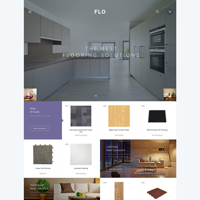 FLO OpenCart Template (OpenCart themes for flooring stores) Item Picture