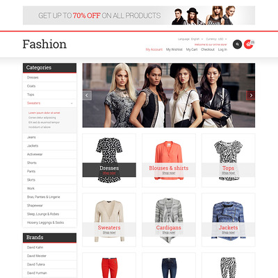 Fashion Store Responsive Magento Theme (Magento theme for mens and womens clothing) Item Picture