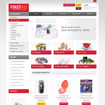 First Aid Store OpenCart Template (OpenCart theme for health and medical stores) Item Picture