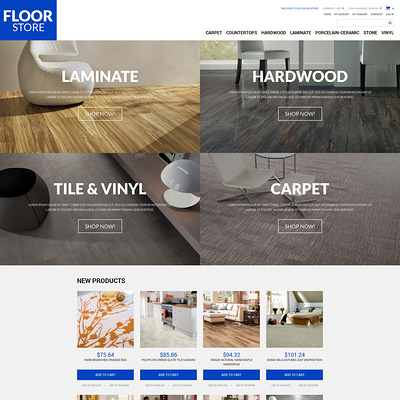 Floor Materials Store Magento Theme (Magento theme for flooring stores) Item Picture