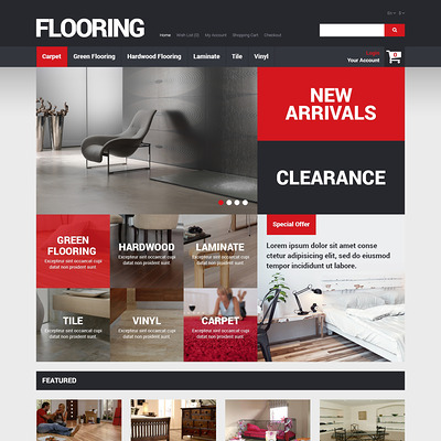 Flooring Store OpenCart Template (OpenCart themes for flooring stores) Item Picture