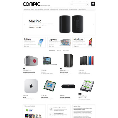HighEnd Hardware PrestaShop Theme (PrestaShop theme for computer hardware stores) Item Picture