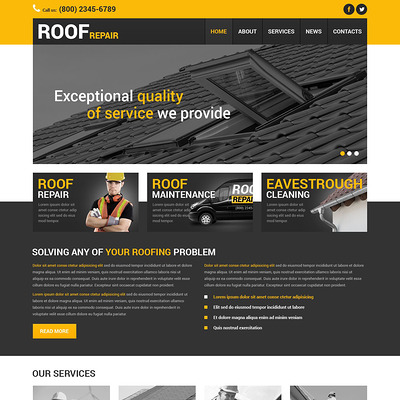 Home Remodeling Responsive Joomla Template (Joomla template for construction companies) Item Picture