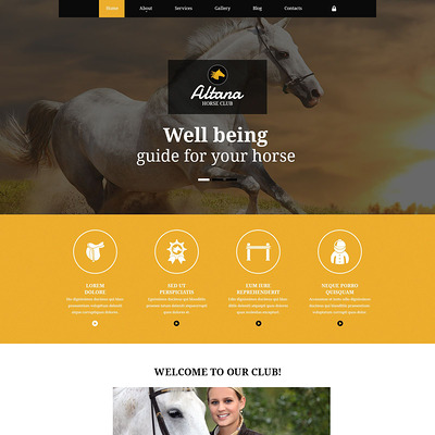 Horse Club Joomla Template (Joomla template for websites about pets and animals) Item Picture