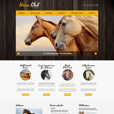 Horse Responsive Joomla Template (Joomla template for websites about pets and animals) Item Picture