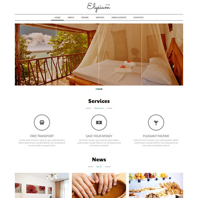 Hotels Motels Joomla Template (Joomla template for hotels) Item Picture