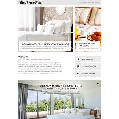 Hotels Responsive Joomla Template (Joomla template for hotels) Item Picture