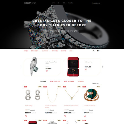 Jewelry Town PrestaShop Theme (PrestaShop theme for jewelry stores) Item Picture