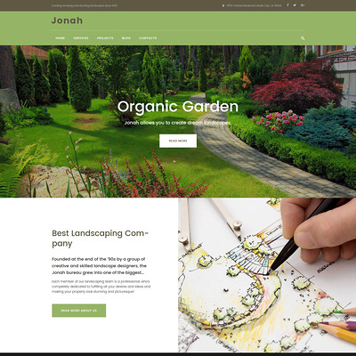 Jonah (WordPress theme for landscapers and gardeners) Item Picture