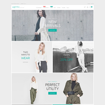 Ketty Clothing PrestaShop Theme (PrestaShop theme for womens clothing) Item Picture