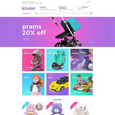 Kinder Magento Theme (Magento theme for kids, babies, and children) Item Picture