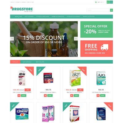 Medicine and Health PrestaShop Theme (PrestaShop theme for health and medical stores) Item Picture