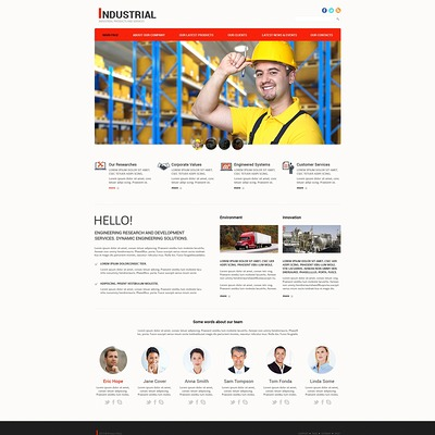 Mining Company Responsive Joomla Template (Joomla template for industrial companies) Item Picture
