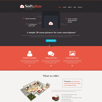 Mobile Apps Promotion WordPress Theme (WordPress theme for promoting apps) Item Picture