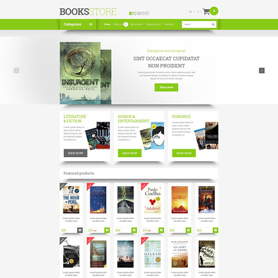 Online Literature Orders OpenCart Template (OpenCart theme for book stores) Item Picture