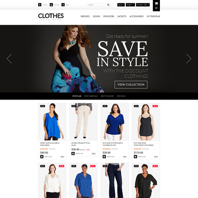 Plus Size Women's Clothing PrestaShop Theme (PrestaShop theme for womens clothing) Item Picture