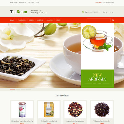 Quality Tea Magento Theme (Magento theme for coffee and tea stores) Item Picture