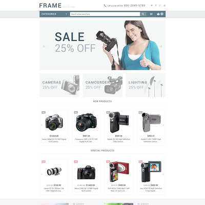 Recording Equipment Magento Theme (Magento theme for electronics stores) Item Picture