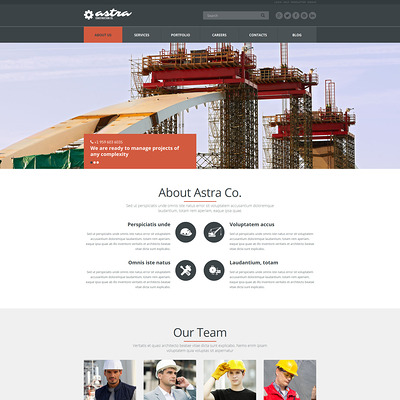 Reliable Building Company Joomla Template (Joomla template for construction companies) Item Picture