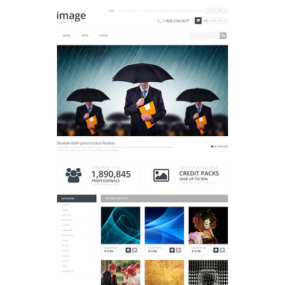 Stock Photo Responsive OpenCart Template (OpenCart theme for stock photo stores) Item Picture
