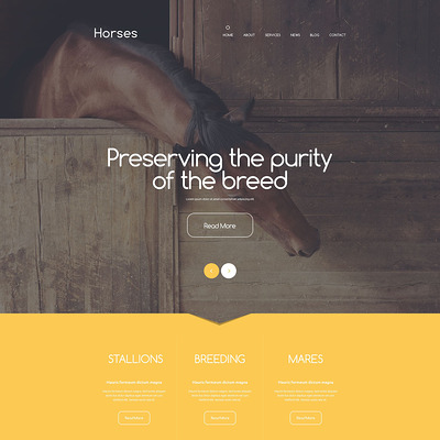Stud Farm Drupal Template (Drupal theme for pets and animals) Item Picture