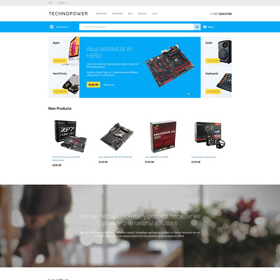 Techno Power Magento Theme (Magento theme for computers and hardware) Item Picture