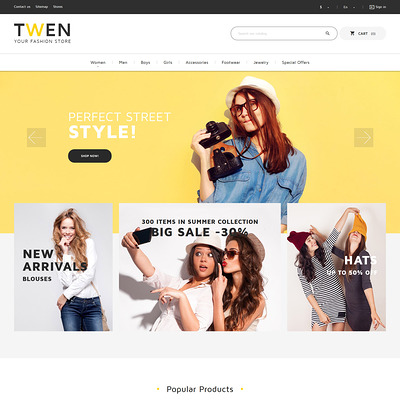 Twen (PrestaShop theme for womens clothing) Item Picture