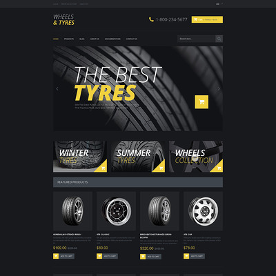 Wheels & Tires Responsive Shopify Theme (Shopify theme for car, vehicle, and automotive stores) Item Picture