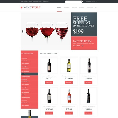 Wine Lovers PrestaShop Theme (PrestaShop theme for liquor, alcohol, beer, and wine stores) Item Picture