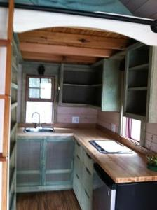 Tiny house kitchen and appliances