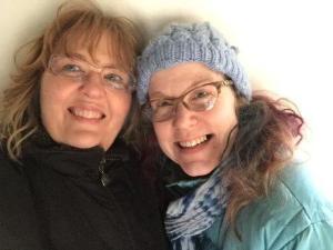Sharon Hurley and Kari Cooper (Yurt Grrl) at NJ Meetup