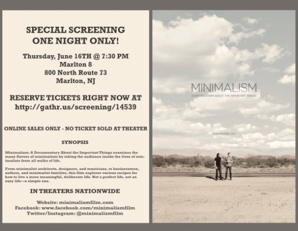 Marlton, New Jersey minimalist documentary, one night only!