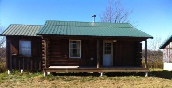 Alan's log cabin in upstate New York