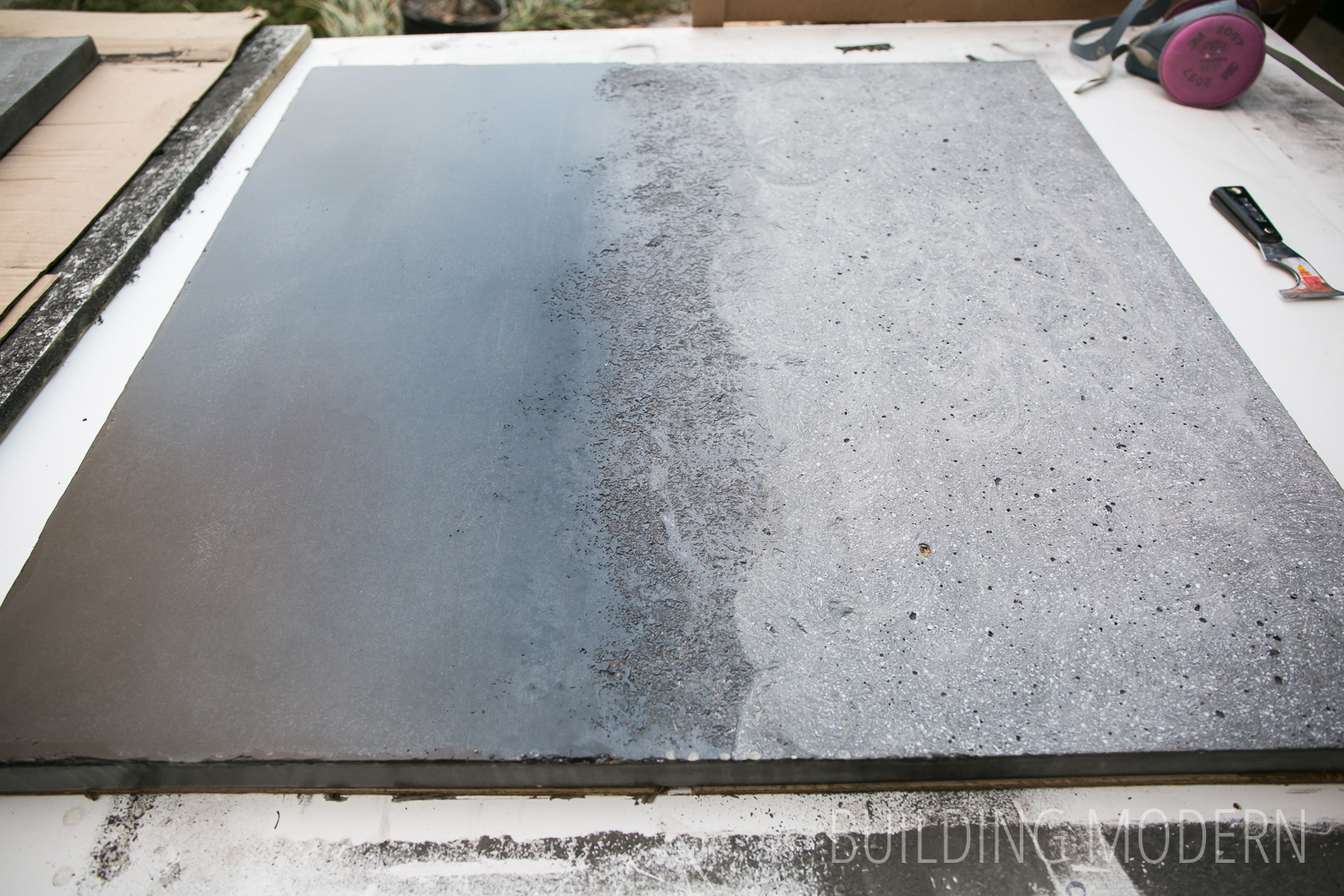 Finished Concrete Countertops Building Modern A Modern Diy Renovation Blog