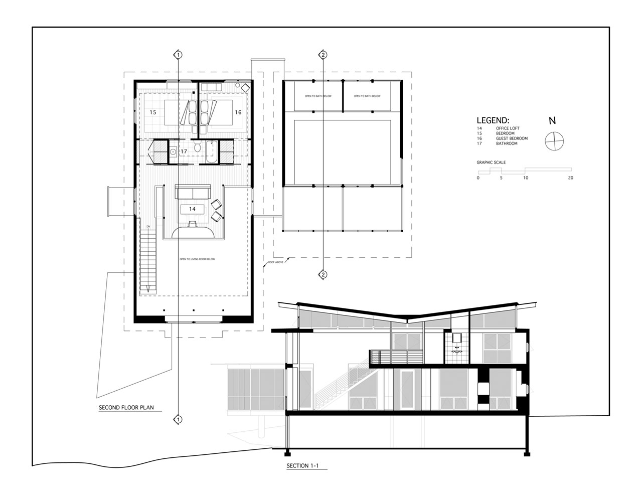 Bathroom Section Drawing