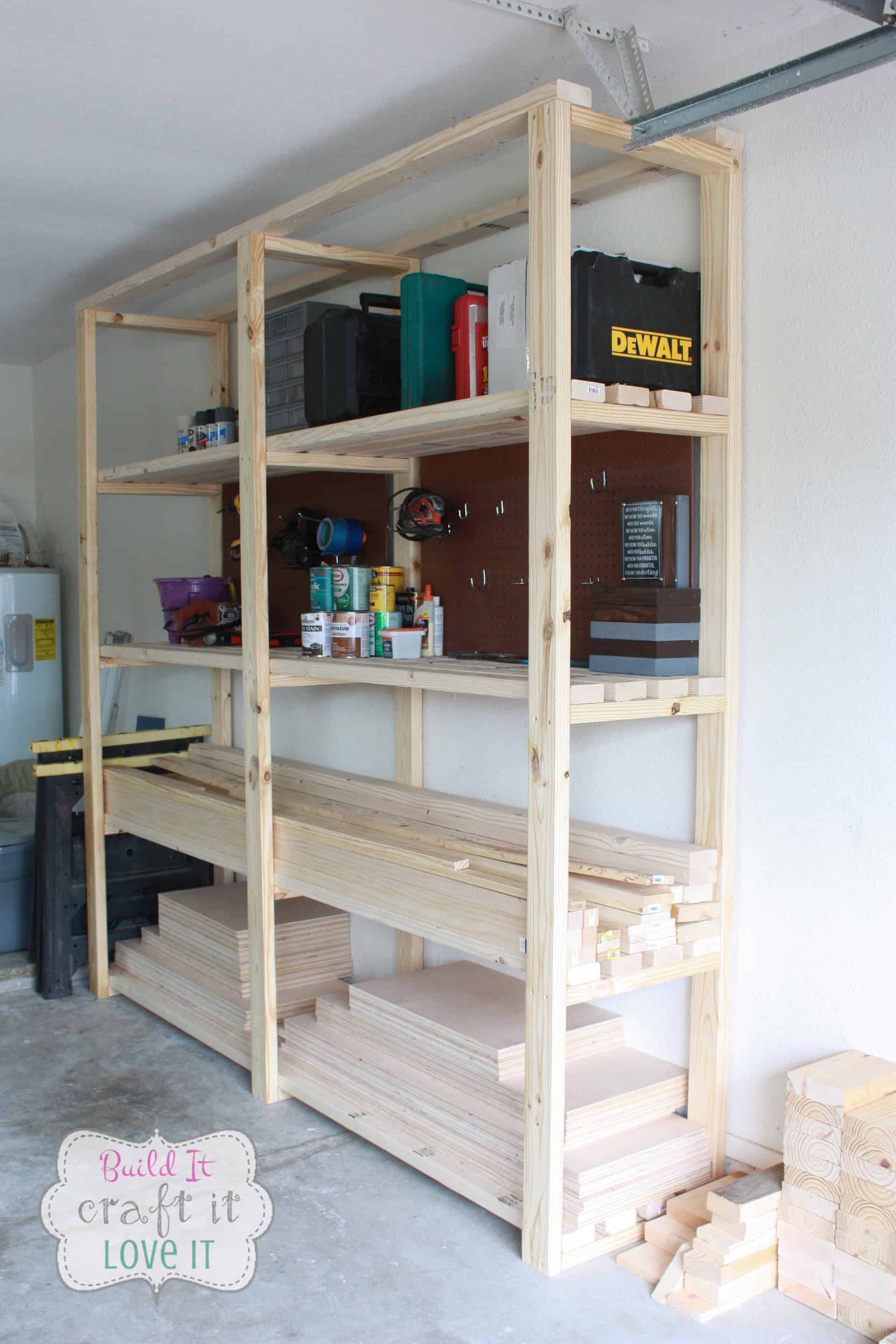 Garage Shelving Units Easy Diy Garage Shelving