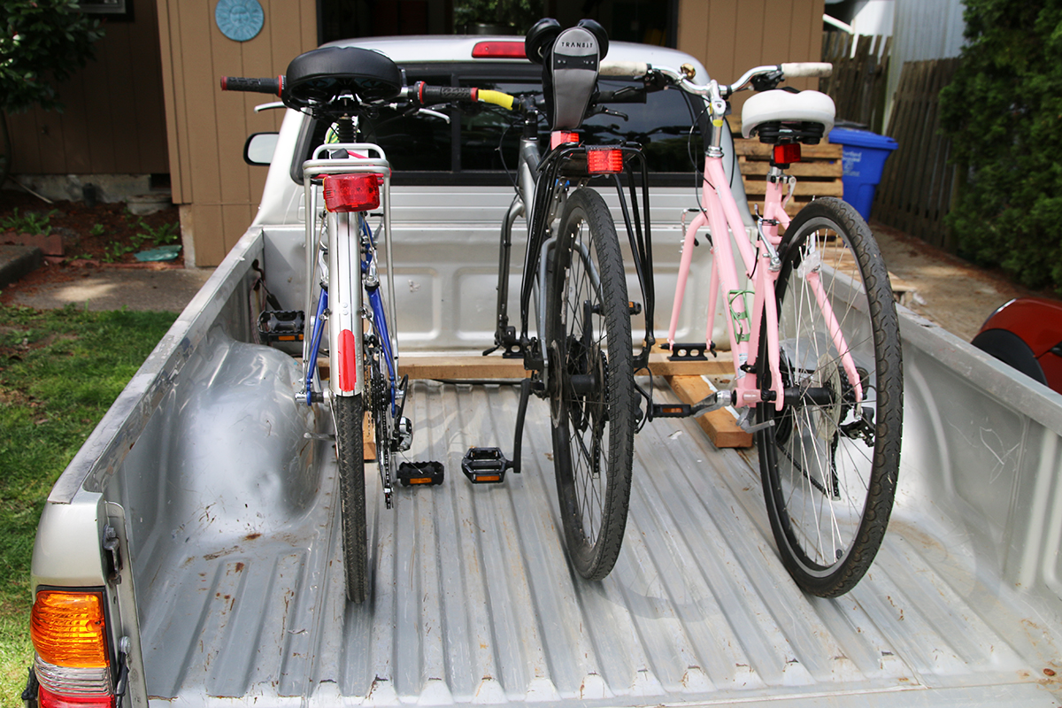 Homemade Truck Bed Bike Rack